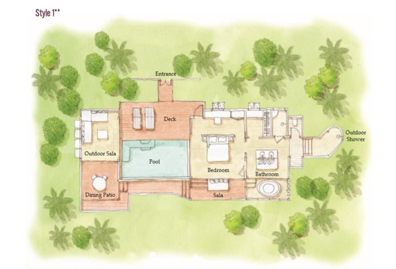 Floorplan Panorama Pool Villa layout two